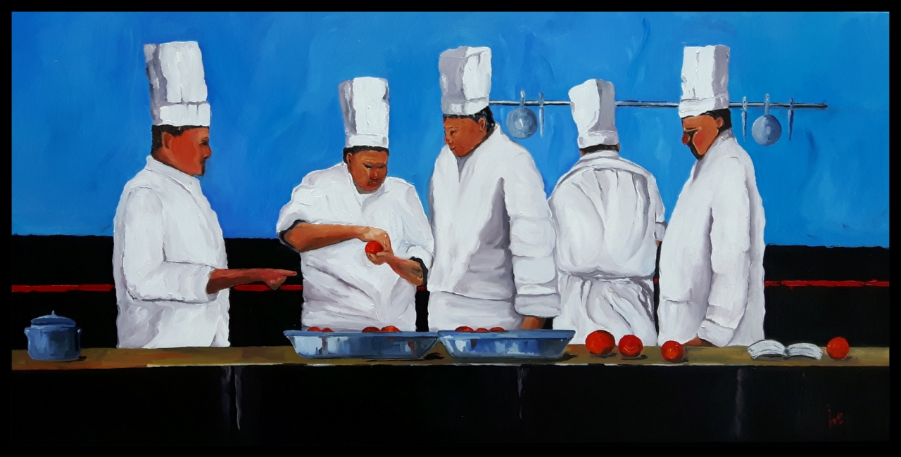 """""""Cooking out of the blue"""""""