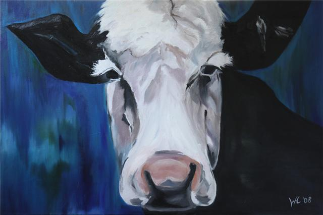 Cow in Blue