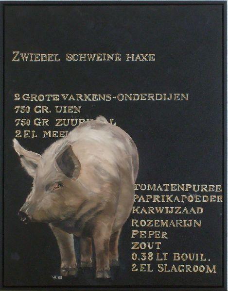 Zwiebel Schweine Haxe