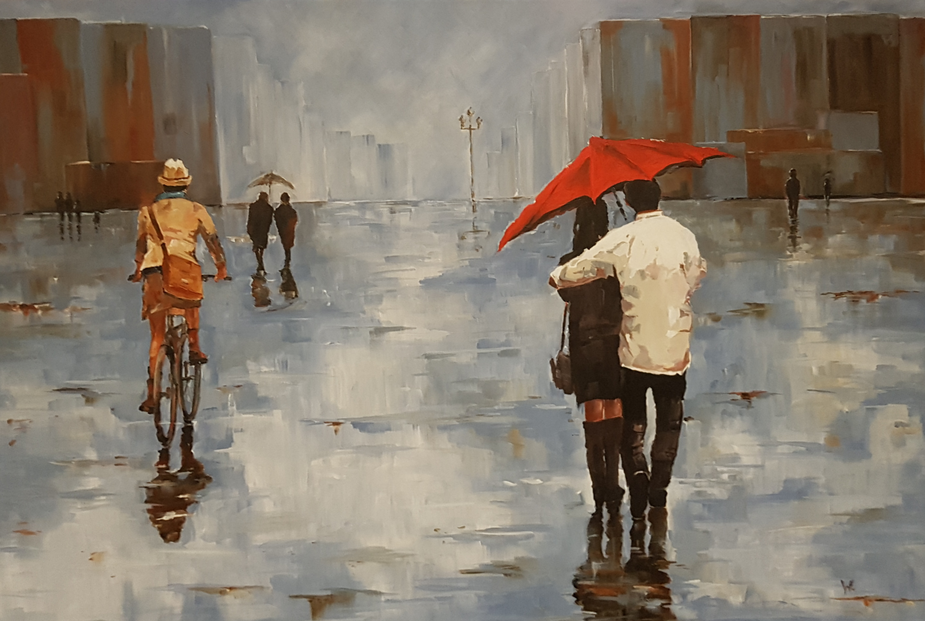 """Walking in the rain"""
