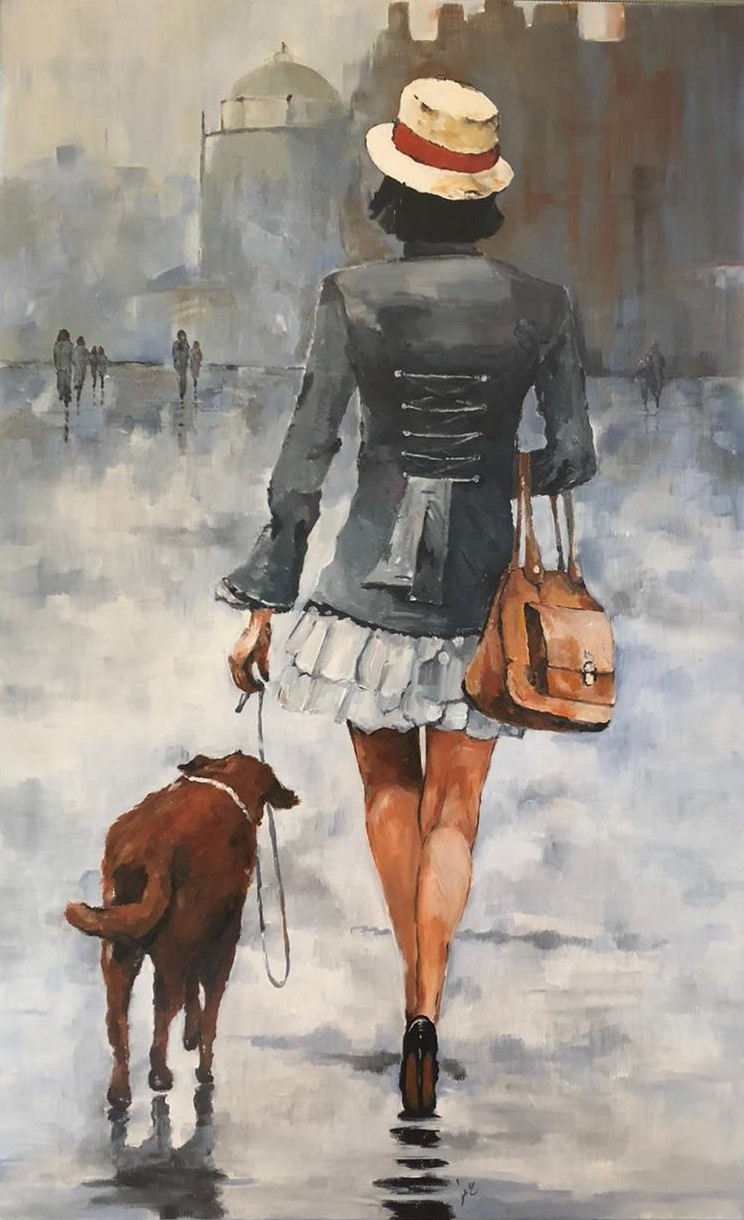 """Walking my dog"""