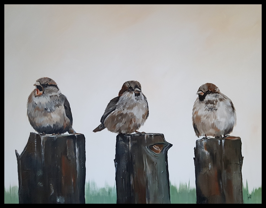"""Three little sparrows"""