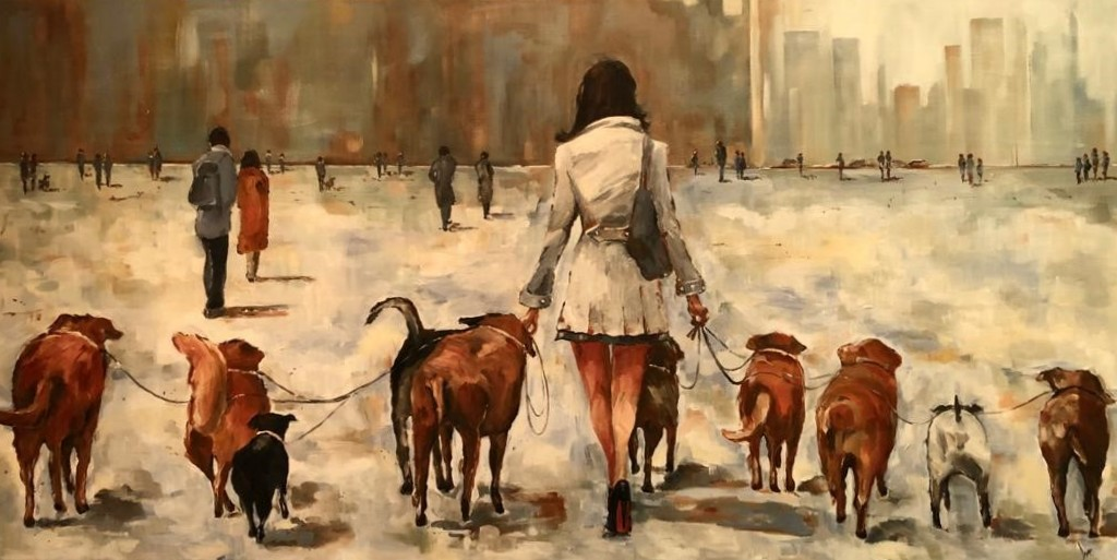 """Walking the dogs"""