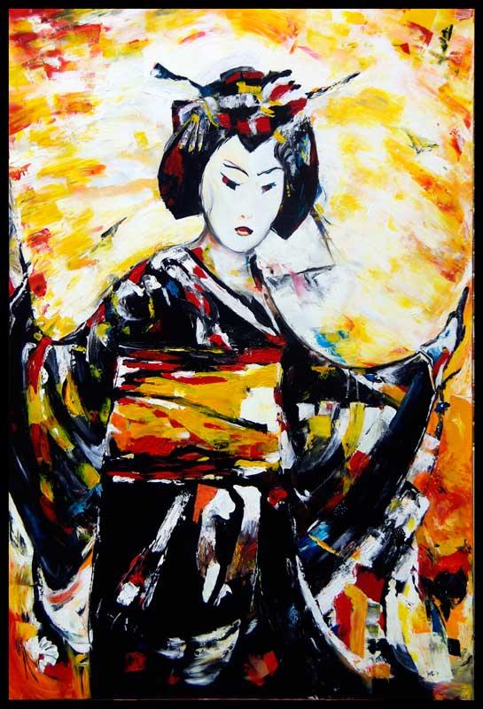 Geisha in lijst