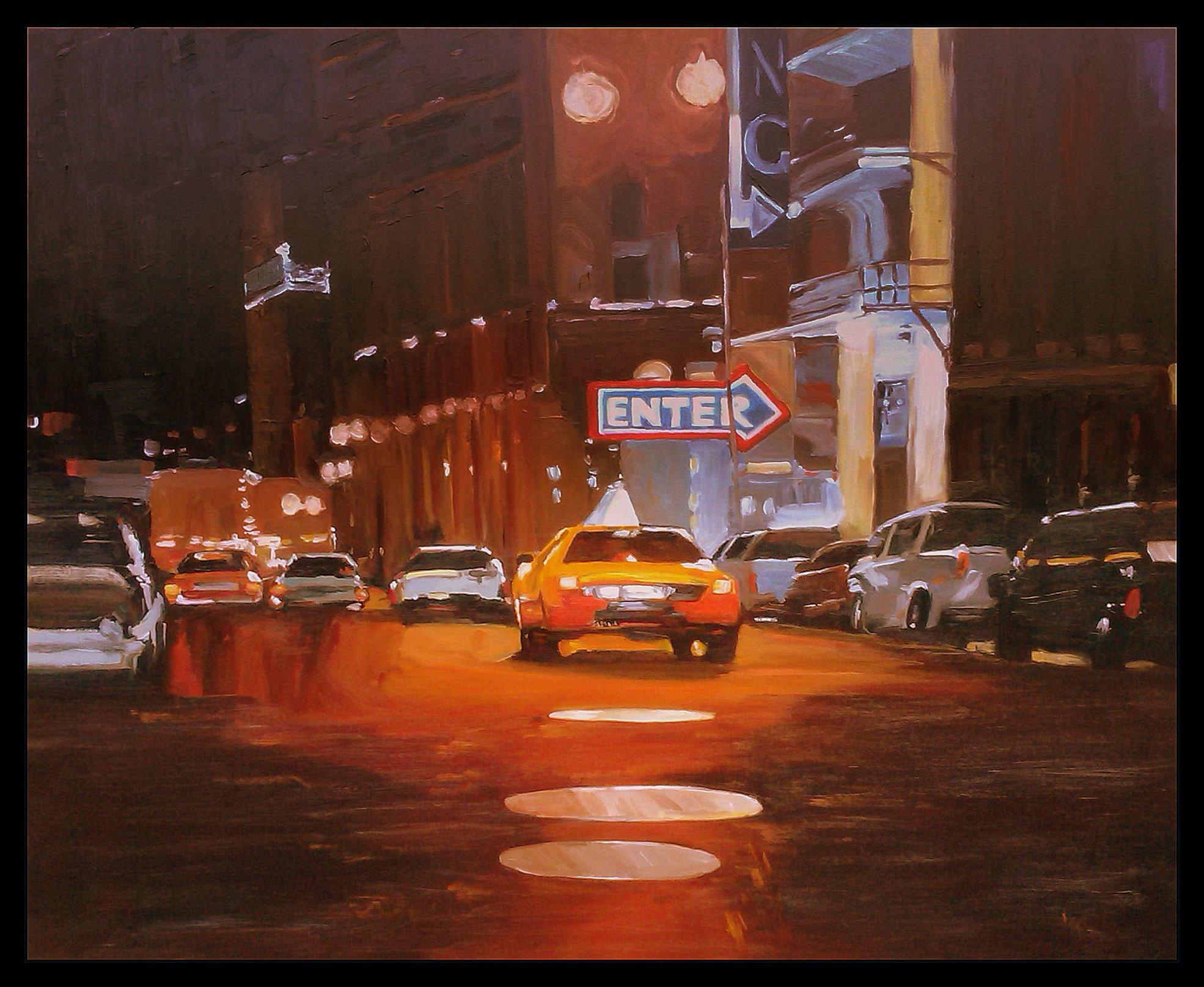 Cab in the night
